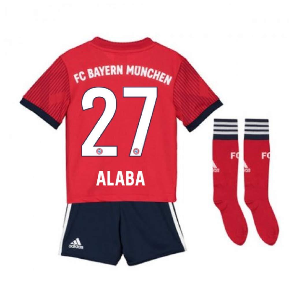UKSoccershop 2018-2019 Bayern Munich Adidas Home Little Boys Mini Kit (David Alaba 27)