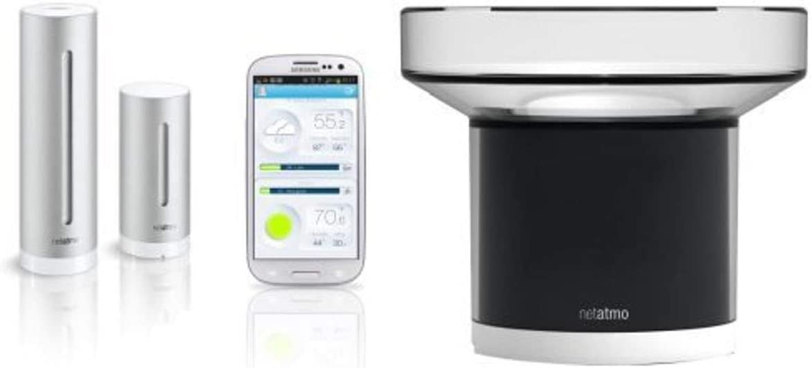 Netatmo Weather Station for iOS and Android Devices with additional Rain Gauge
