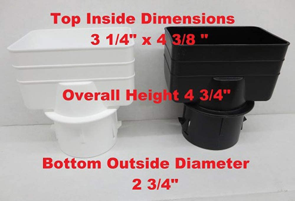 Amazon Com Universal Downspout To Drain Pipe Tile Adapter White 3x4x3 Home Kitchen