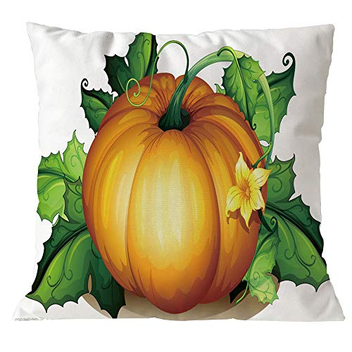Kimloog 18x18 Inch Cute Pumpkin Halloween Throw Pillow Cover Sofa Car Decorative Cushion Case (G) -
