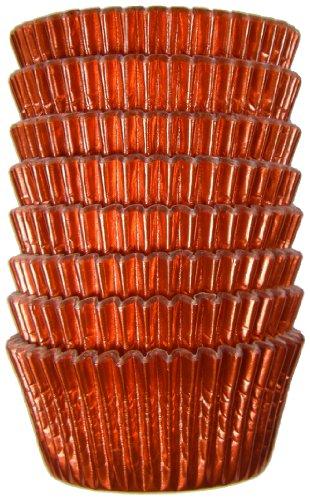 Regency Wraps Red Foil Petit Four Baking Cups, 96-Count