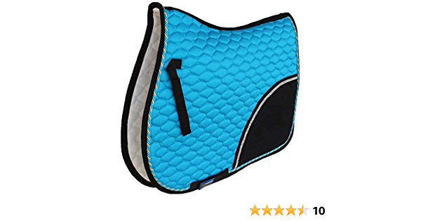 Horse All Purpose Cotton Quilted ENGLISH SADDLE PAD Trail Turquoise Black 72F01