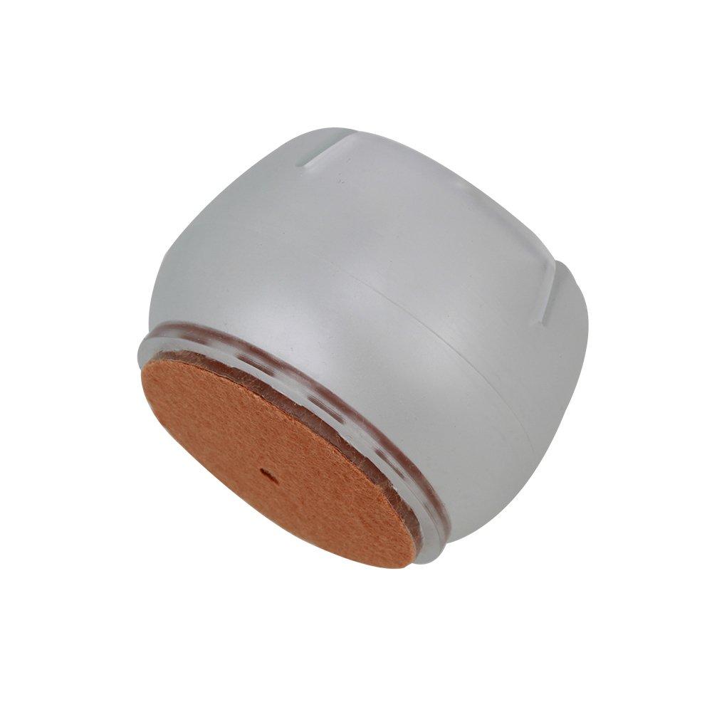 Transparent Stuhlbeinkappen Silikon M/öbel Tisch Stuhl Bein Caps passend f/ür runde Beine 1.6-2cm Runde Silikon Holzboden Sch/ützen Set von f/ür Haus Wohnzimmer 8PCS