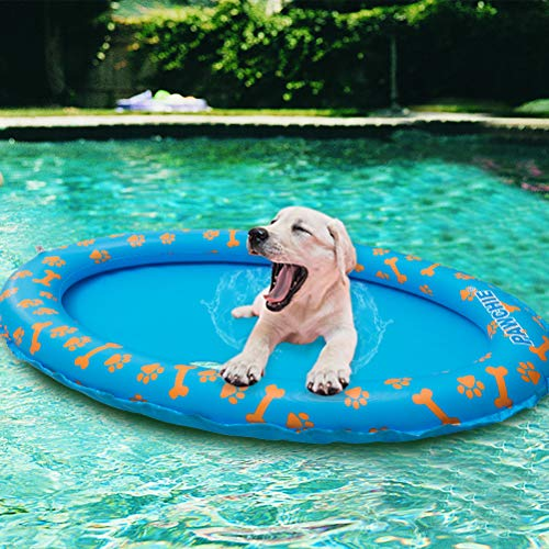 PAWCHIE Dog Pool Float Inflatable Raft for Pets, Swimming Pool Rafts for Summer
