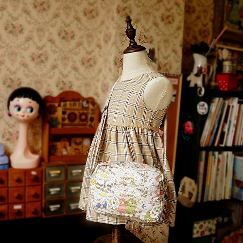 Free Shipping Cute Handmade Japanese Kokka Fabric Girl Kids Bag - Nordic Forest Grey