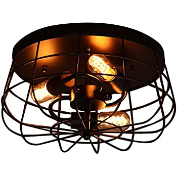 new styles f2073 af171 Allen + Roth Yordan 15-in W Brushed Nickel Flush Mount Light