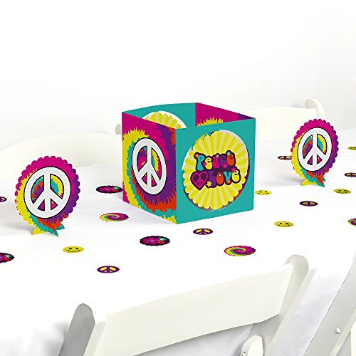 Big Dot of Happiness 60's Hippie - 1960s Groovy Party Centerpiece & Table Decoration Kit by Big Dot of Happiness