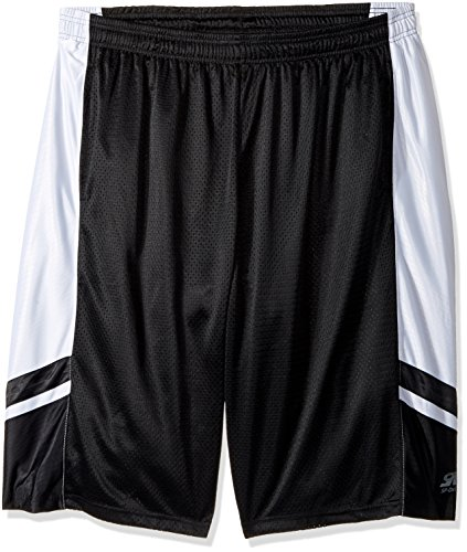 Southpole Men's Big and Tall Basic Basketball Mesh Shorts, Black, ()