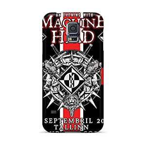 Hard Protect Phone Cases For Samsung Galaxy S5 (QXu6676aluQ) Custom Colorful Machine Head Band Pictures