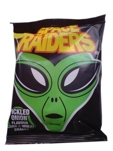 Space Raiders Pickled Onion Crisps / Chips 40 x 22g Bags from UK