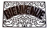 Wrought Iron Doormat, French Vintage Design ''Bienvenue''