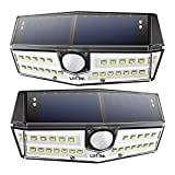 Litom Solar Lights Outdoor 30 LED, Super Bright Motion Sensor Solar Lights with Exclusive Wide Angle Design and IP66 Waterproof, Security Solar Wall Lights for Garden, Yard, Patio, Garage (2 Pack)