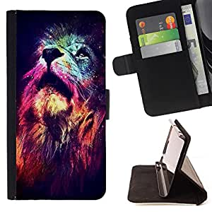 - Lion Heart Space - - Style PU Leather Case Wallet Flip Stand Flap Closure Cover FOR LG G2 D800 - Devil Case -