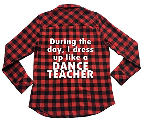 39s Apple - Apple Orange Gifts I Dress up Like Dance Teacher - Unisex Plaid Flannel Shirt