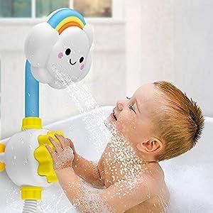 RB Baby Bath Shower Head, Cute Cloud Spout, Baby Bath Spray Toys with Sucker for Newborn Babies in Tub or Sink