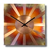 Cheap Sunny Copper Square Decorative Wall Clock 12-inch Silent Non Ticking for Home/Office / Kitchen/Bedroom / Living Room