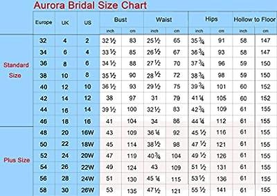 Aurora Bridal Women's V-neck A-line Lace Sapghetti Straps Chiffon Wedding Dresses