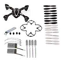 SODIAL(R) For Hubsan X4 H107L 8-in-1 Quadcopter Black Spare Parts Crash Pack