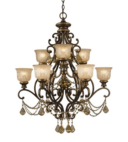 Amazon.com: Lámparas de araña 6 luz con bronce Umber teca ...