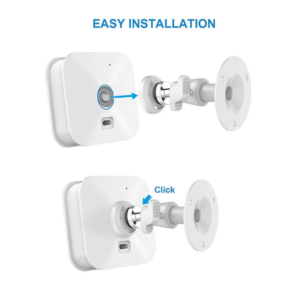 Poitwo Security Wall Mount Sensor Metal Security Camera Bracket Indoor Mount Bracket 360 Degree Rotation