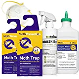 West Bay Retail | Powerful Carpet Moth Killer KIT | Natural Biodegradable Treatment by MothPrevention - 1 Room Treatment | Note: Contains PESTICIDES