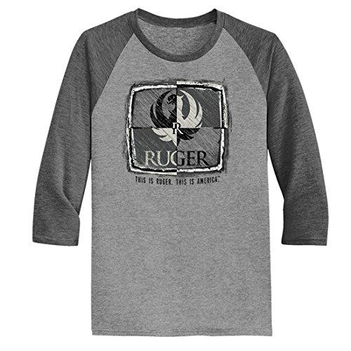 Ruger Quadrant Tri-Blend Ragland 3/4 Sleeve Men's T-Shirt-Small