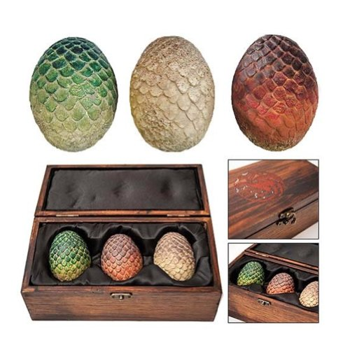 Game of Thrones Dragon Egg Prop Replica Set in Wooden Box by Animewild by Animewild