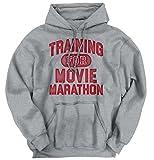 Brisco Brands Training Movie Marathon Funny Shirt | Netflix Chill Hulu Lazy Hoodie Sweatshirt