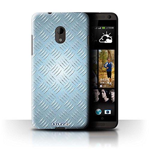 Coque de Stuff4 / Coque pour HTC Desire 210 Dual / Bleu Design / Motif en Métal en Relief Collection