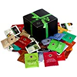 Organic Stash Tea Sampler (54 Count) - Assortment Tasty Flavor of Teabags Decaf or Regular in Foil Packets for Home, Office, Business and more | Healthy Green Gift Box