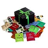 Greenbow Gift Box Organic Assortment Flavor Stash Tea Sampler (54 Count)