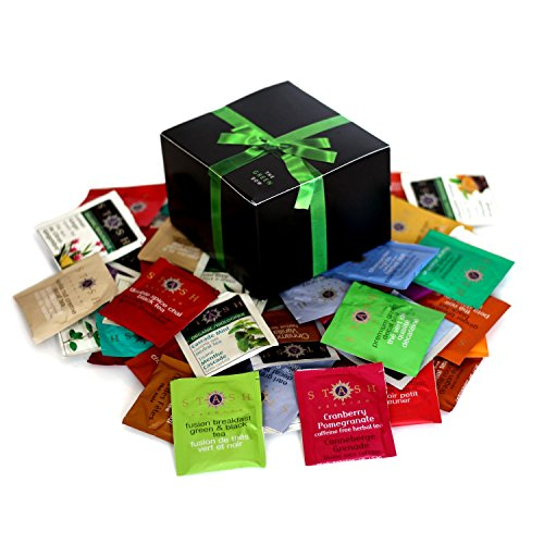 Greenbow Gift Box Organic Assortment Flavor Stash Tea Sampler (54 - Start Brands Famous That Y With