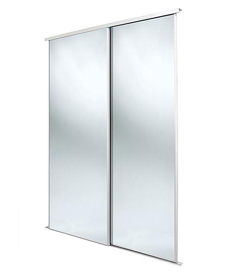 Home Decor Ante Scorrevoli.Home Decor Bianco Telaio Specchio Kit Per Armadio Ante Scorrevoli