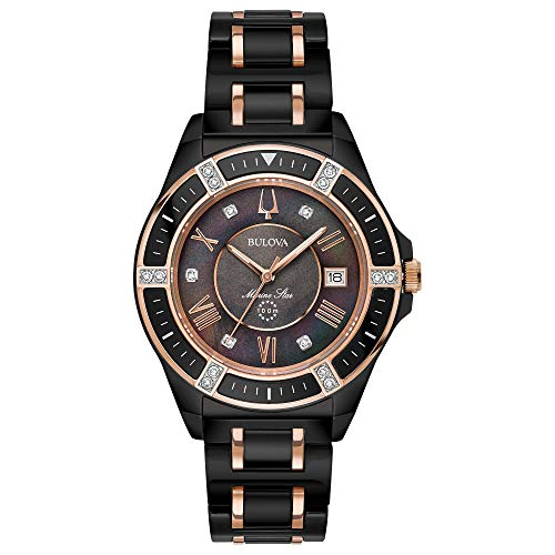 Ladies' Bulova Marine Star Diamond Black Stainless Steel Watch ()