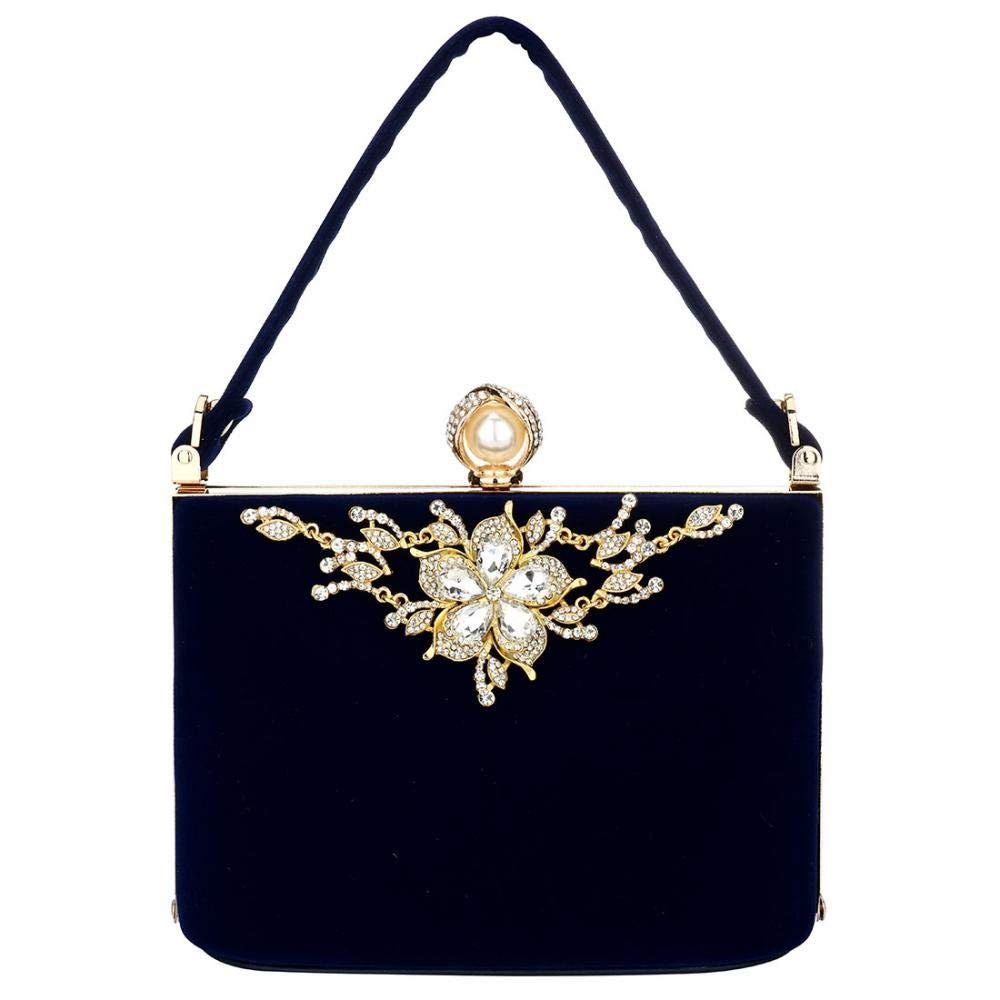 pour soir/ée perles mariage f/ête strass mari/ée sacs pour bal Pochettes /à fleurs /él/égantes en satin pour femme sac /à main