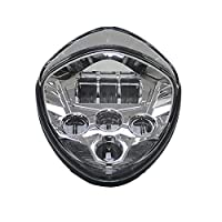 SKTYANTS Victory Headlight Motorcycle LED Headlights Assembly High & Low BeamCross Country Cross Roads 2010-2016 Cross Models Cruisers Chrome