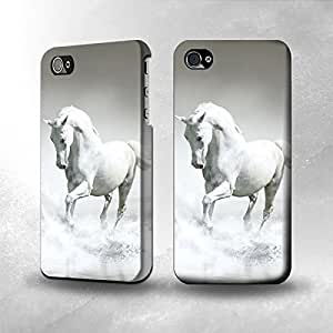 Apple iPhone 4 / 4S Case - The Best 3D Full Wrap iPhone Case - White Horse v