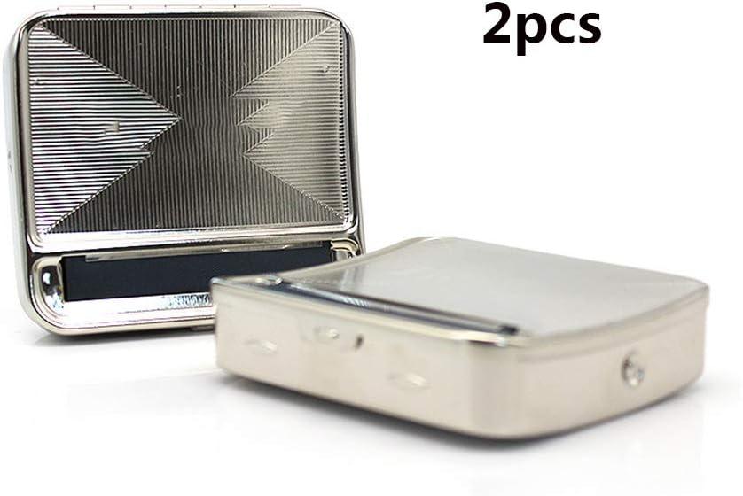 Amara Máquina de Cigarrillos Manual,semiautomática y portátil Caja de Cigarrillos MáQuina De Liar Cigarrillos Nrolladora de Cigarrillos Manual de Metal9.2 * 8.2 * 2cm: Amazon.es: Deportes y aire libre