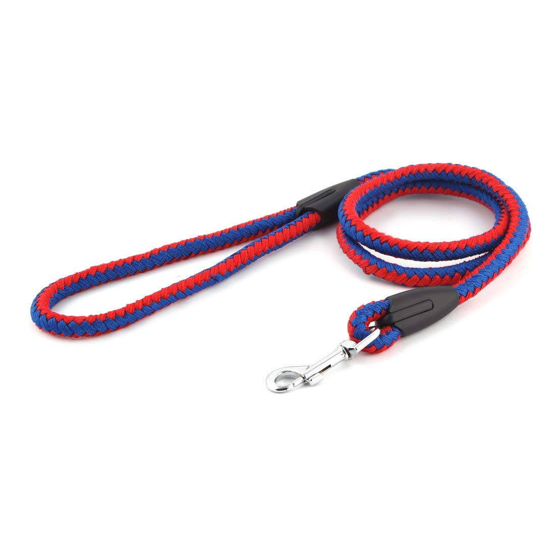 Nylon Pet Dog Round Rope Hook Type Durable Leash Strap Drawstring Red bluee
