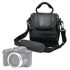 DURAGADGET Protective Black Durable Water-Resistant Carry Case for The Kodak Pixpro AZ252   AZ365   AZ521   AZ522   AZ525   AZ651   FZ201   FZ41   FZ51   WP1 Sport   AZ401 & Mini Shot