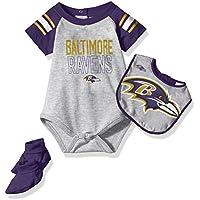 NFL Boys Newborn Blitz Onesie, Bib & Bootsie Set