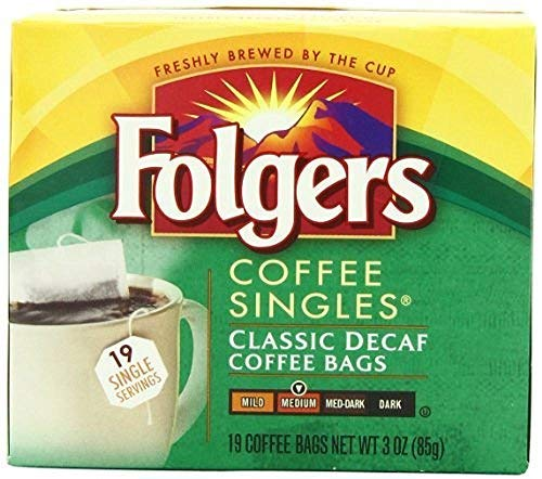 Folgers Classic Medium Roast Decaf Coffee, 19 Ct Singles Serve (Pack of 12) by Folgers (Image #1)
