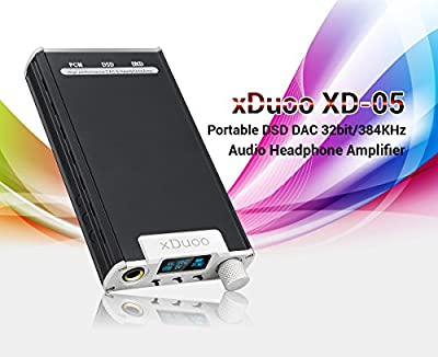Lightwish - XDuoo XD-05 Audio Portable DSD DAC Headphone Amplifier with HD OLED-display Support 32BIT / 384KHZ PCM 256 DSD 24BIT / 192KHZ DXD Decoding for Smart Phones HiFi Player