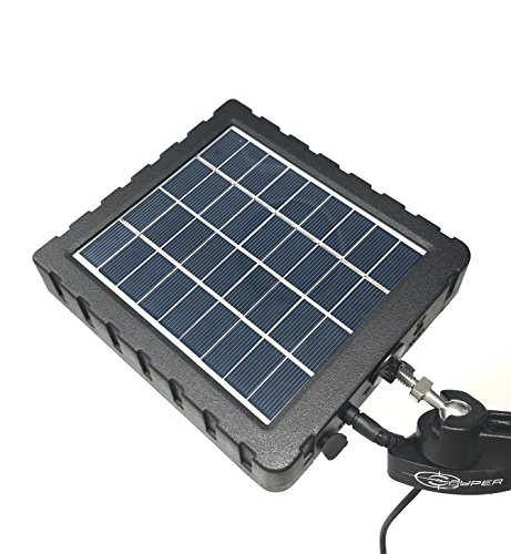 Snyper Hunting Products 12V Solar Panel Kit for Snyper Cameras with 2 Rechargeable Internal Lithium Batteries