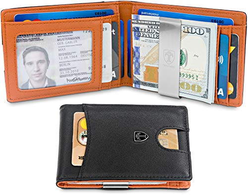 TRAVANDO Slim Wallet with Money Clip SEATTLE RFID Blocking Card Mini Bifold Men by Travando