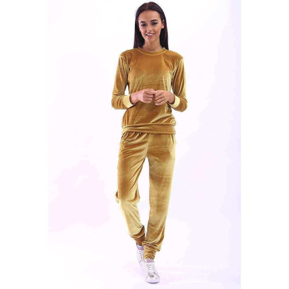 haute pour DIVA 's neuf femmes 2 pièces velours velvet côtelé manches longues bas de Jogging Survêtement Vêtement de détente
