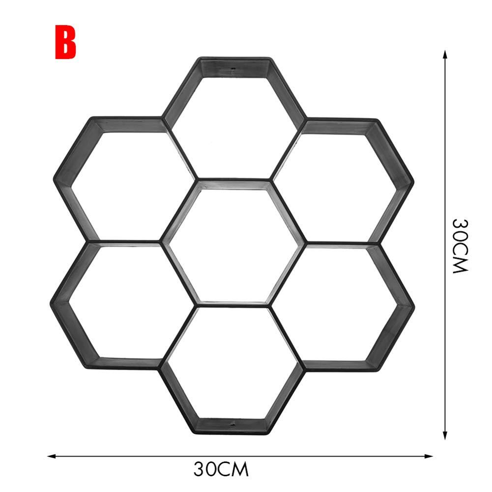 Baifeng Jard/ín Bricolaje Pl/ástico Vereda Fabricante Pavimento Modelo Concreto Escal/ón Piedra Cemento Molde Ladrillo A