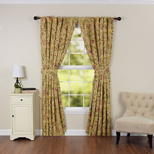(WAVERLY Imperial Dress Window Drapery Pair Antique)