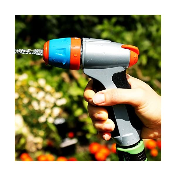 GRÜNTEK Pistola da Giardino in Metallo. Lancia da Giardino Regolabile: con polverizzatore per Fiori e Piante o Spray… 5 spesavip