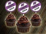 12 GRAPE SODA UP MOVIE THEME Inspired Party Picks, Cupcake Picks, Cupcake Toppers